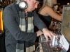 Sandy Duperval, DJ. Ouverture de la Commission des Liqueurs a Montreal au 3435 boulevard St-Laurent, le 18 decemre 2008.