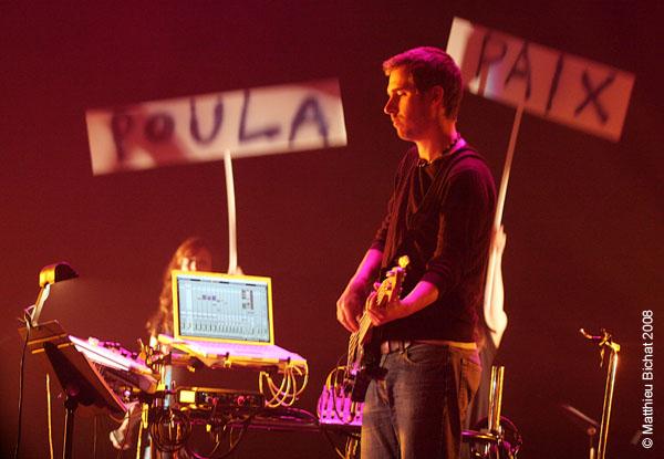 Eric Auclair. Spectacle -Pauline a la Page- en hommage a Pauline Julien, dans le cadre du 22eme Coup de Coeur Francophone, au Theatre Outremont de Montreal, le 8 novembre 2008.