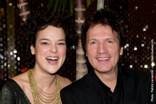 Helene Bourgeois Leclerc et Claude Meunier - Premiere du film le grand depart - Place des arts - 9 decembre 2008