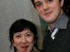 Marie Brassard et Guillaume-Vincent Otis. Premiere du film BABINE de Luc Picard au Theatre Maisonneuve de la Place des Arts de Montreal, le 24 novembre 2008.