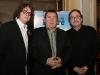 Patrick Drolet, Remy Girard et Robert Menard (realisateur). Premiere du film -LE BONHEUR DE PIERRE- au Cinema Imperial de Montreal, le 23 fevrier 2009.