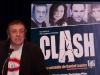 Pierre Lebeau. Conference de presse de la piece CLASH de Daniel Lemire, salle Andre-Mathieu de Laval, le 9 fevrier 2009.