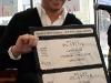 Remise d'un billet triple platine a Martin Matte