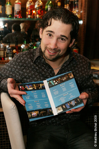 Jean-Francois Baril. Lancement du DVD de la saison 1 de l emission DIEU MERCI au bar Le Confessionnal de Montreal, le 29 janvier 2009.