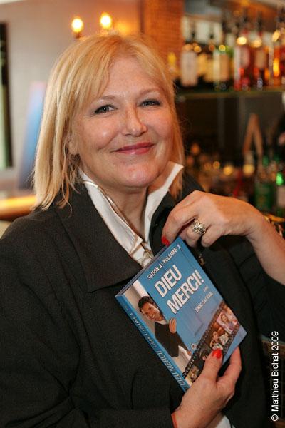 Danielle Ouimet. Lancement du DVD de la saison 1 de l emission DIEU MERCI au bar Le Confessionnal de Montreal, le 29 janvier 2009.