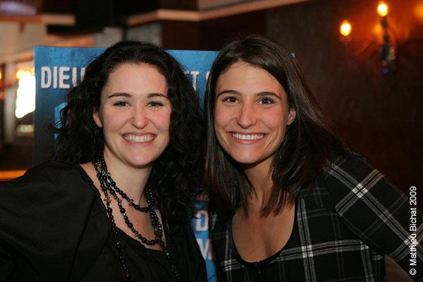 Tammy Verge et Salome Corbo. Lancement du DVD de la saison 1 de l emission DIEU MERCI au bar Le Confessionnal de Montreal, le 29 janvier 2009.