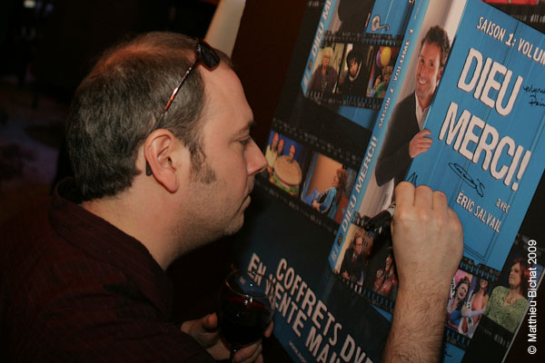 Martin Heroux. Lancement du DVD de la saison 1 de l emission DIEU MERCI au bar Le Confessionnal de Montreal, le 29 janvier 2009.