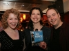 Myriam Poirier, Caroline Lavigne et Martin Heroux (comediens maison). Lancement du DVD de la saison 1 de l emission DIEU MERCI au bar Le Confessionnal de Montreal, le 29 janvier 2009.
