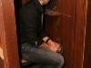Eric Salvail (animateur de l emission) au confessionnal. Lancement du DVD de la saison 1 de l emission DIEU MERCI au bar Le Confessionnal de Montreal, le 29 janvier 2009.