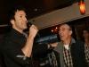 Eric Salvail et Gaston Lepage. Lancement dui DVD de la saison 1 de l emission DIEU MERCI au bar Le Confessionnal de Montreal, le 29 janvier 2009.