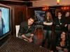 Visionnement des extraits. Lancement du DVD de la saison 1 de l emission DIEU MERCI au bar Le Confessionnal de Montreal, le 29 janvier 2009.