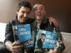 Eric Salvail (animateur) et Gaston Lepage (juge de l emission). Lancement du DVD de la saison 1 de l emission DIEU MERCI au bar Le Confessionnal de Montreal, le 29 janvier 2009.
