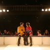 Real Bosse et Patrick Drolet. Match 1 de la saison 2009 de la LNI opposant l equipe des Jaunes a l equipe des Rouges, au Petit Medley de Montreal, le 09 fevrier 2009.