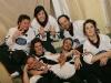 Daniel Malenfant, Delphine Bienvenu, Martin Boily, Bernard Fortin (Coach), Maryvonne Cyr, Vincent Bolduc et Virginie Fortin. Match regulier 2 de la saison 2009 de la LNI, opposant l equipe des Blancs a l equipe des Bleus, au Medley de Montreal, le 16 fevrier 2009.