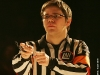 Alexandre Cadieux (arbitre). Match regulier 2 de la saison 2009 de la LNI, opposant l equipe des Blancs a l equipe des Bleus, au Medley de Montreal, le 16 fevrier 2009.
