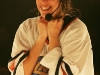 Delphine Bienvenu. Match regulier 2 de la saison 2009 de la LNI, opposant l equipe des Blancs a l equipe des Bleus, au Medley de Montreal, le 16 fevrier 2009.
