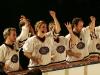 Vincent Bolduc, Maryvonne Cyr, Virginie Fortin, Martin Boily. Match regulier 2 de la saison 2009 de la LNI, opposant l equipe des Blancs a l equipe des Bleus, au Medley de Montreal, le 16 fevrier 2009.