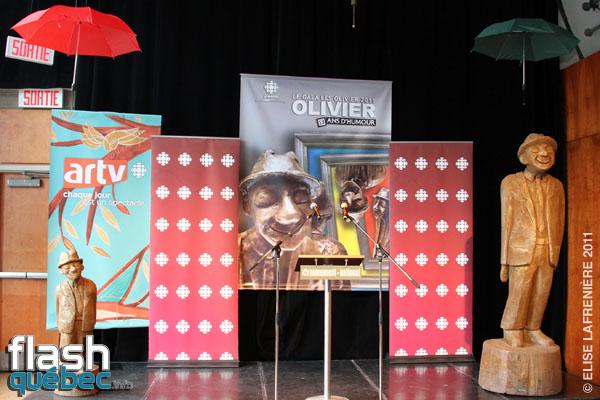 Conference de presse pour le devoilement des nominations au Gala Les Olivier au Monument National, le 13 avril 2011. Utilisation quelle qu\'elle soit strictement interdite sans l\'accord de l\'auteure elise.lafreniere@videotron.ca