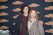 Mélanie Maynard et son fils - Premiere de Francois Bellefeuille - Le Plus Fort Au Monde à la Place des Arts.