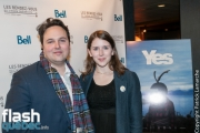 """Maxime Laporte (SSJB) lors de la première mondiale du documentaire """"YES"""" de Félix Rose et Eric Piccoli dans le cadre des Rendez-vous du cinéma québécois, au Cinéma Cineplex Odeon Quartier Latin, à Montréal, vendredi le 3 mars 2017."""