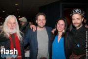 """Armand Vaillancourt, Simon Beaudry lors de la première mondiale du documentaire """"YES"""" de Félix Rose et Eric Piccoli dans le cadre des Rendez-vous du cinéma québécois, au Cinéma Cineplex Odeon Quartier Latin, à Montréal, le vendredi 3 mars 2017."""