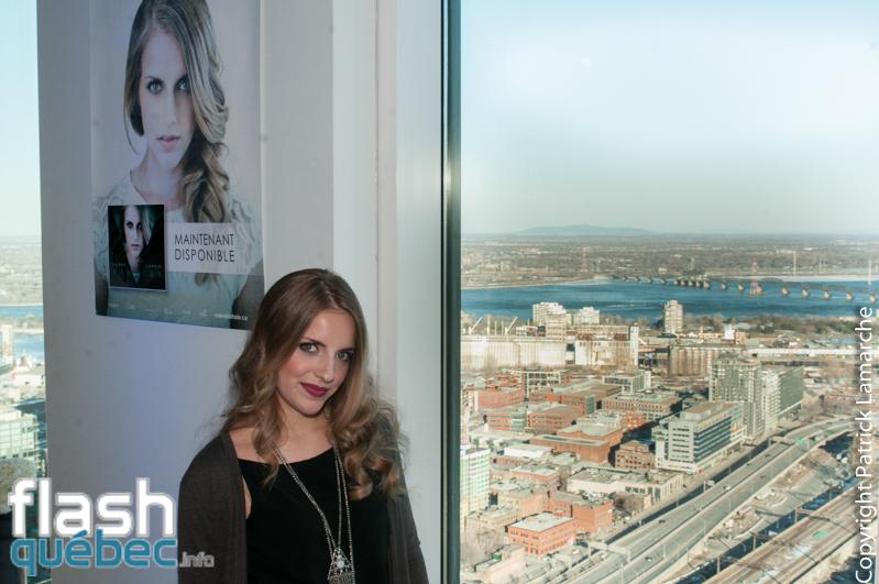 Entrevue Valérie Lahaie lors du lancement de l'album Vertige