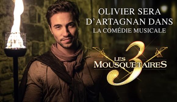 Olivier Dion sera d'artagnan dans les trois mousquetaires