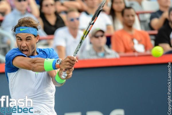 Rafael Nadal a disposé de l'Ukrainien Sergiy Stakhovsky à la Coupe Rogers.