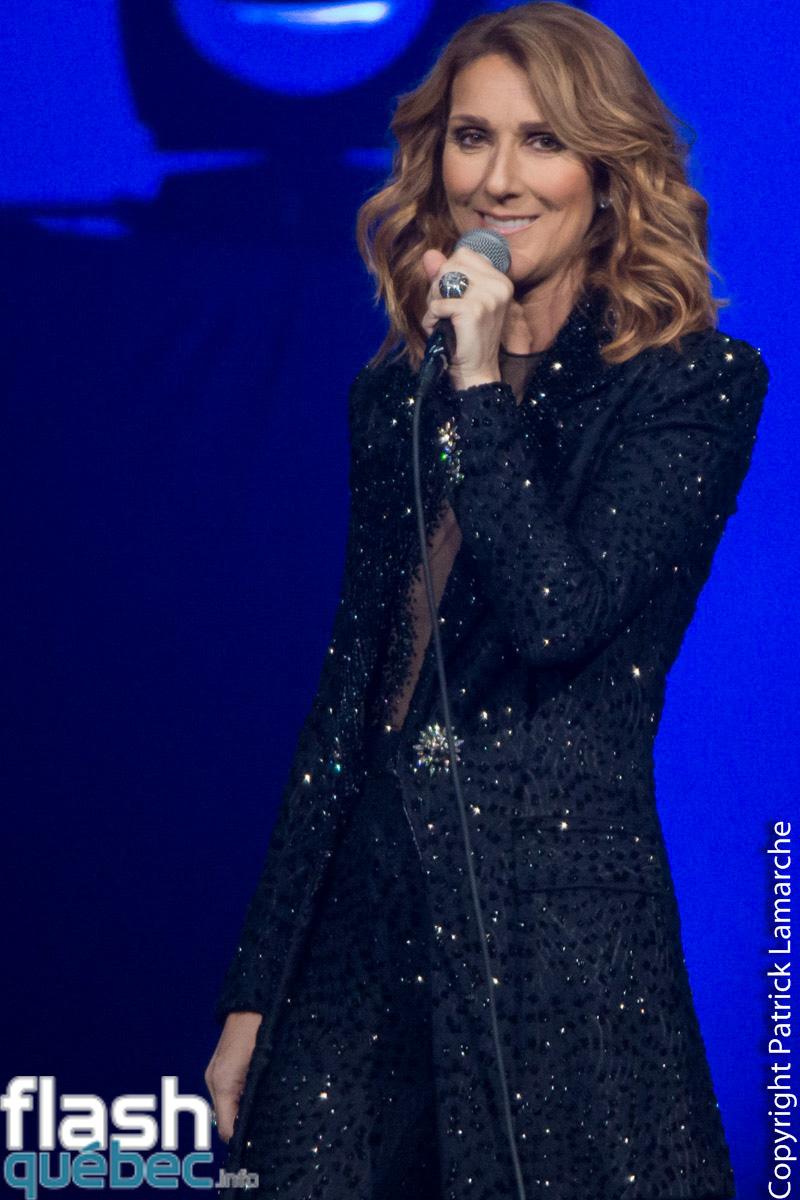 première de Céline Dion au Centre Vidéotron de Québec