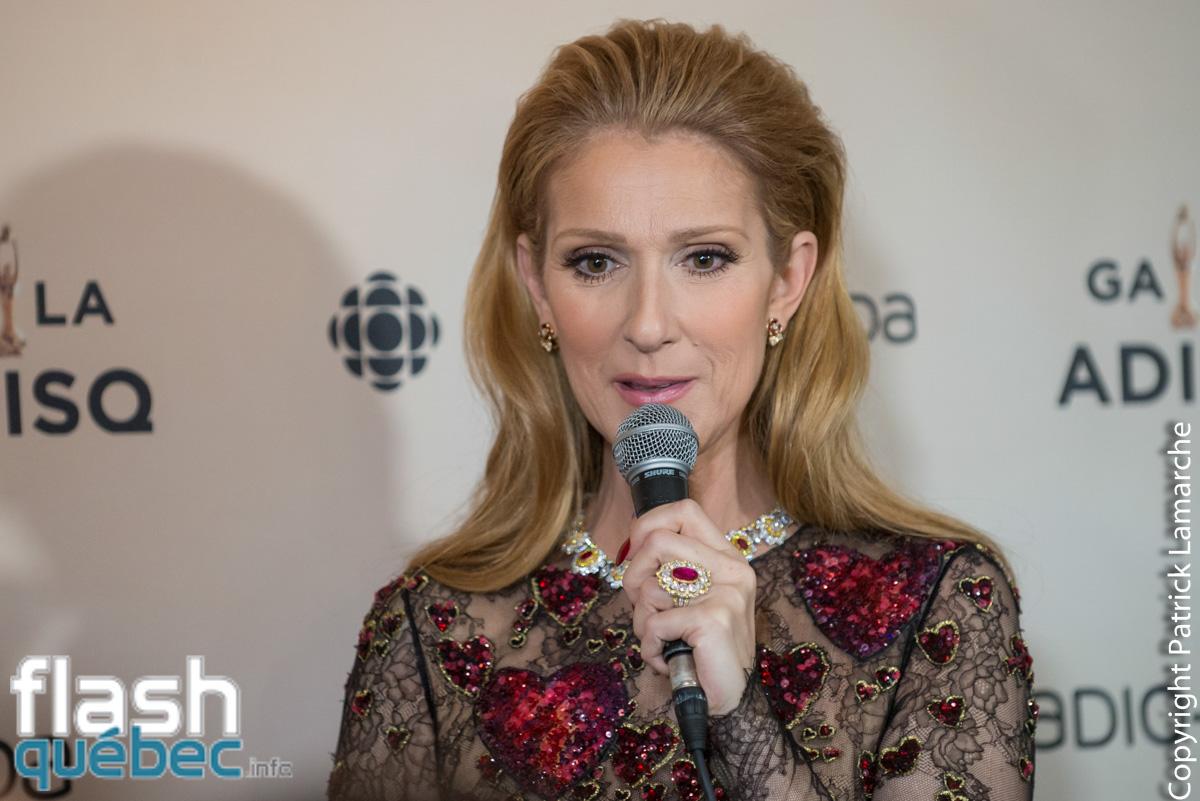 Céline Dion en performance au Gala de l'ADISQ, ses réactions en salle de presse après le gala.