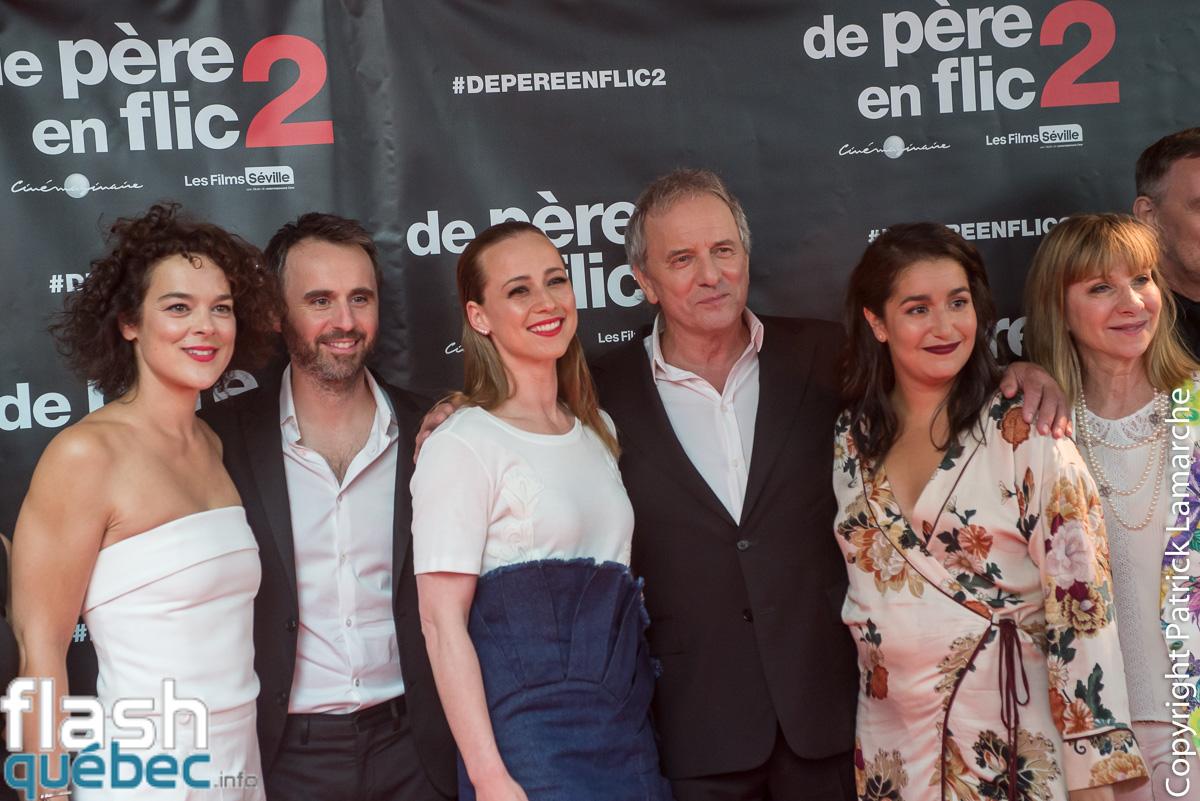 Tapis rouge du film De père en flic 2 avec Louis-José Houde, Michel Côté, Karine Vanasse, Mariana Mazza